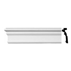 "Renovators Supply - Crown Moldings White Urethane Simple Somerset Crown Molding | 11517 - Crown Moldings: Made of virtually indestructible high-density urethane our crown molding is cast from steel molds guaranteeing the highest quality on the market. High-precision steel molds provide a higher quality pattern consistency, design clarity and overall strength and durability. Lightweight they are easily installed with no special skills. Unlike plaster or wood urethane is resistant to cracking, warping or peeling.  Factory-primed our crown molding is ready for finishing.  Measures 96"" x 5""."