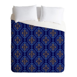 DENY Designs - Belle13 Royal Damask Pattern Duvet Cover - Turn your basic, boring down comforter into the super stylish focal point of your bedroom. Our Luxe Duvet is made from a heavy-weight luxurious woven polyester with a 50% cotton/50% polyester cream bottom. It also includes a hidden zipper with interior corner ties to secure your comforter. it's comfy, fade-resistant, and custom printed for each and every customer.