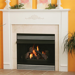 Cortland Wood Fireplace Mantel - The simple and elegant Cortland Wood Fireplace Mantel is perfect for painting or staining. - Mantels Direct