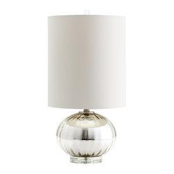 Glass Barlett Table Lamp White Shade - *Barlett Table Lamp