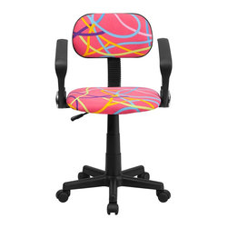 Flash Furniture - Flash Furniture Accent Chair X-GG-A-YLO-TB - This attractive design printed office chair will liven up your classroom, dorm room, home office or child's bedroom. If you're ready to step out of the ordinary then this computer chair is for you! [BT-OLY-A-GG]