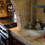 Antique Thick Limestone Countertops, AKA Foundation Slabs - Images by: 'Ancient Surfaces