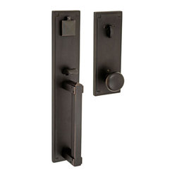 Handlesets by Fusion Hardware - Sonoma Handleset with Half-Round Knob in Oil Rub -