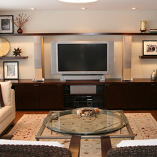 Contemporary Home Theater by Primed By Design Inc