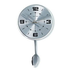 Control Brands - George Nelson Stainless Spoon Pendulum Clock - George Nelson Stainless Spoon Pendulum Clock Control Brands - 1415SPOON