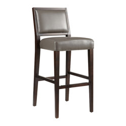 Sunpan Citizen Barstool Grey Modern Barstool With