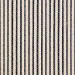 "72"" Tablecloth Round Ticking Stripe Indigo Blue"