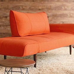 """Zeal Deluxe Orange - Create a beautiful bedroom set that you will love for years to come with the""""Innovation USA"""" Zeal Deluxe Orange Daybed. It is a perfect and affordable solution for your home. The daybed also creates an extra couch for a den or office."""