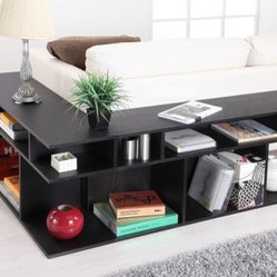 Katrin Black Wood/Console Sofa Table