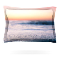 "Kess InHouse - Bree Madden ""Sunset Beach"" Pillow Sham (Cotton, 30"" x 20"") - Pairing your already chic duvet cover with playful pillow shams is the perfect way to tie your bedroom together. There are endless possibilities to feed your artistic palette with these imaginative pillow shams. It will looks so elegant you won't want ruin the masterpiece you have created when you go to bed. Not only are these pillow shams nice to look at they are also made from a high quality cotton blend. They are so soft that they will elevate your sleep up to level that is beyond Cloud 9. We always print our goods with the highest quality printing process in order to maintain the integrity of the art that you are adeptly displaying. This means that you won't have to worry about your art fading or your sham loosing it's freshness."