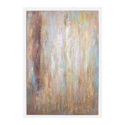Uttermost - Raindrops Canvas Wall Art - Strike a pensive, subtle mood in your favorite setting. This remarkable oil painting eschews a frame for fresh-off-the-easel impact.
