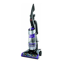 Bissell - Bissell 1322 CleanView Deluxe Rewind Upright Vacuum Multicolor - 1322 - Shop for Vacuums from Hayneedle.com! Whether you ve got hard flooring or carpet the Bissell 1322 CleanView Deluxe Rewind Upright Vacuum is an all purpose cleaning machine. A 27-ft. power cord with automatic rewind and swivel steering helps you get around and into spots others could vacuums could never reach. A powerful multi-cyclonic system and triple action brush roll ensures deep cleaning on any surface. The hose attachment and TurboBrush tool makes cleaning upholstery furniture and stairs easy. With the finger tip on/off switch and bottom easy empty dirt tank complete with multi-level filtration vacuuming just became quicker and easier. About Bissell Melville Bissell patented the BISSELL carpet sweeper in 1876 the company's first mechanical sweeper ever conceived. Shortly after he built the first Bissell manufacturing plant in Michigan and began helping Americans and all of the world suck it up and tackle the confounding and unhealthy problem of dust-laden carpets and floors. A technology and trend innovator in the field of home cleaning solutions for over 100 years Bissell remains committed to bringing you the most advanced effective and practical solutions for keeping your home clean.