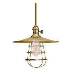 Hudson Valley Lighting - Hudson Valley Lighting 9001-AGB-MS1-WG Heirloom Aged Brass Pendant - Hudson Valley Lighting 9001-AGB-MS1-WG Heirloom Aged Brass Pendant