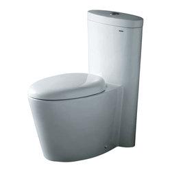 "Atlas International - Ariel ""Monterey"" Contemporary One Piece White Toilet with Dual Flush - Ariel ""Monterey"" Contemporary One Piece White Toilet with Dual Flush 29x16.5x31"