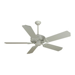 Craftmade - American Tradition 52 in. Fan in White w Standard Blades - Fan Specs:. Heavy-Duty, 3 Speed Reversible Motor. 2 in. and 6 in. Downrods (Included). Meets Energy Star Energy Efficiency Standards. Number of Fan Blades: 5. Blade Pitch: 16°. Motor Size: 188 x 20mm. High Speed Amps: 0.7. RPM (Hi-Med-Low): 196-115-70. Airflow (Cubic FT/MIN): 6989. Electricity Use: 84 Watts. Airflow Efficiency (Cubic FT/Min/Watt): 72. Blade Specs:. Blade Length: 52 in.