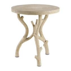 Currey & Co - Currey & Co 2029 Hanbury Light Acid Wash Occasional Table - Currey & Co 2029 Hanbury Light Acid Wash Occasional Table