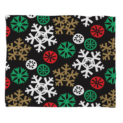 DENY Designs - DENY Designs Zoe Wodarz Cozy Cabin Snowflakes Fleece Throw Blanket - This DENY fleece throw blanket may be the softest blanket ever! And we're not being overly dramatic here. In addition to being incredibly snuggly with it's plush fleece material, you can also add a photo or select a piece of artwork from the DENY Art Gallery, making it completely custom and one-of-a-kind! And when you've used it so much that it's time for a wash, no big deal, as it's machine washable with no image fading. Plus, it comes in three different sizes: 80x60 (big enough for two), 60x50 (the fan favorite) and the 40x30. With all of these great features, we've found the perfect fleece blanket and an original gift!