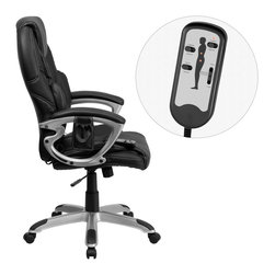 Flash Furniture - Flash Furniture Office Chairs Massaging Offfice Chairs X-GG-2-PH6089-TB - Enjoy a relaxing massage in the comfort of your own office or home with this incredibly comfortable Massaging Executive Office Chair by Flash Furniture. The included remote has a variable slider intensity mode to get to your desired comfort level and has a designated side pocket when not in use. Chair features a high back contemporary design with soft leather upholstery and double padded seat and back. Get the most out of your next office chair with this Overstuffed Padded Executive Chair with included Massage feature. [BT-9806HP-2-GG]