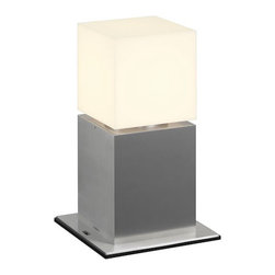SLV Lighting - Square Pole 30 232236U - Outdoor Post Lamp | SLV - SLV Lighting Square Pole 30 232236U�Outdoor Floor Lamp features�acrylic shade and brushed aluminum base.Screws (incl.). Manufacturer:�SLV LightingSize:�7 x 7 in. Base x �5.13 length x �5.13 width x 11.75 in. height Light Source:�1 x 20 watt max E26 / Self ballasted CFL - not included Location:�Wet