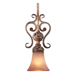 Minka-Lavery - Salon Grand Mini Drop Rod Pendant by Minka-Lavery - The Minka Lavery Salon Grand Mini Drop Rod Pendant designed by Jessica McClintock exemplifies a romantic lighting fixture that is accentuated by its flawless detailing and heartwarming sprinkle of radiance. The Salon Grand Mini Drop Rod Pendant features Salon Scavo glass shade and Florence Patina finish.Minka-Lavery, recognized as a leader in modern elegance, offers decorative lighting with high quality craftsmanship in a variety of materials, including solid brass, wrought iron and cast aluminum. Located in Corona, CA, the Minka Group is branched into three providers that offer creative designs as well as timeless classics: Minka-Lavery lighting, Minka Aire fans and George Kovacs lighting.The Minka Lavery Salon Grand Mini Drop Rod Pendant is available with the following:Included Features:Salon Scavo glass shade.Hand sculpted leaf details. Florence Patina finish.Ceiling canopy.UL Listed.Designed by Jessica McClintock.Lighting: One 100 Watt 120 Volt Medium Base Incandescent lamp (not included).Shipping:This item usually ships in 48 hours.