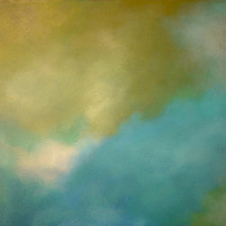 Tranquility  (Original) by Alexis Fritz - This original abstract painting with soothing soft blue and green is sure to calm even the most restless spirt.