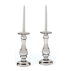 """Go Home - Pair of Roaring 20's Candle Holders - Distinctive home furnishings Roaring 20's Candle Holders fabulous addition to your home decor, perfect medium for holding candles nicely.  5"""" Dia. at Base, 4"""" Dia. at Top x 11.25"""" H"""