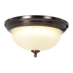 Premier - One Light 13.25 inch Flush Mount - Oil Rubbed Bronze - AF Lighting 617240 Sonoma Lighting Collection 1 Light Flush Mount, Oil Rubbed Bronze, 13-1/4in. W by 6-1/4in. H.