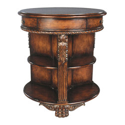 Ambella Home - Master Gallery Display Table - You search with discernment for your treasures — yet your quest for their ideal display has reached its end. This charming end table, crafted of exotic hardwood, features niches for your favorite objects.