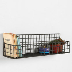 Grid Wall Bin - I would hang this bin either by my desk or in a bathroom as a way to organize little things like books and candles.