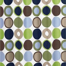 Sweet Jojo Designs - Designer Dot Shower Curtain by Sweet Jojo Designs - The Designer Dot Shower Curtain by Sweet Jojo Designs, along with the  bedding accessories.