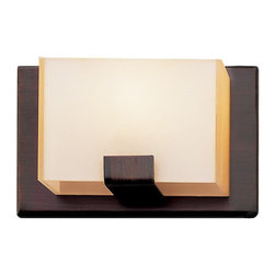 Rubbed Oil Bronze And Acrylic Cube 1 Light Halogen Bath/Wall Sconce - Condition: New - in box