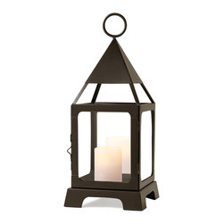Sarah Peyton - Sarah Peyton Decorative Lantern - Medium - Showcase candles indoors or outdoors with the Sarah Peyton Decorative Lantern. This elegant lantern adds soft candlelight and stylish flair to your home.