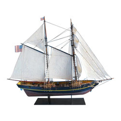 """Handcrafted Model Ships - Dapper Tom 24"""" - Wooden Tall Ship - Sold Fully Assembled"""