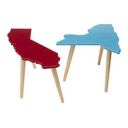 State Tables - Show where you're from with these state-shaped tables.