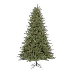 Kennedy Fir Dura-Lit Christmas Tree - Light up the dark of winter this season with a Kennedy Fir Dura-Lit Christmas Tree. This authentic, natural-looking fir Christmas tree is made with durable PVC and comes with a sturdy crossbar stand.5.5-ft.Tree Additional InformationShape: fullBase width: 40 in.Tip count: 7576.5-ft.Tree Additional InformationShape: fullBase width: 46 in.Tip count: 10457.5-ft.Tree Additional InformationShape: fullBase width: 55 in.Tip count: 17359-ft.Tree Additional InformationShape: fullBase width: 64 in.Tip count: 2671Don't Forget to Fluff!Simply start at the top and work in a spiral motion down the tree. For best results, you'll want to start from the inside and work out, making sure to touch every branch, positioning them up and down in a variety of ways, checking for any open spaces as you go.As you work your way down, the spiral motion will ensure that you won't have any gaps. And by touching every branch you'll create the desired full, natural look.About VickermanThis product is proudly made by Vickerman, a leader in high quality holiday decor. Founded in 1940, the Vickerman Company has established itself as an innovative company dedicated to exceeding the expectations of their customers. With a wide variety of remarkably realistic looking foliage, greenery and beautiful trees, Vickerman is a name you can trust for helping you create beloved holiday memories year after year.