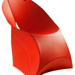 Flux - Flux Chair by Flux - Thirty seconds of set-up = a lifetime of convenient seating. The Flux Chair, inspired by the folding aspects of origami, is made of durable plastic and comes in several fun color options. Take it with you camping or to the beach, or set it up in the kitchen for a great modern look. Use with the Flux Chair Cushion and bring added comfort to convenience.Rigid furniture is for rigid thinkers. Founder Douwe Jacobs and engineer Tom Schouten first founded Flux (a mashup of flexible + luxury) in 2009, creating furniture like plastic origami that folds out to become sturdy pieces for the modern-minded. The Flux Chair is available with the following:Details:Made of PolypropyleneFoldableDesigned by Douwe Jacobs and Tom SchoutenMade in HollandOptions:Color: Anthracite Grey, Bright Orange, Classic Red, Ice Blue, Jet Black, Lemon Lime, Pebble Grey, or Pure White.Shipping:In Stock items ship within 1 business day. Others usually ship within 7 business days unless otherwise noted.