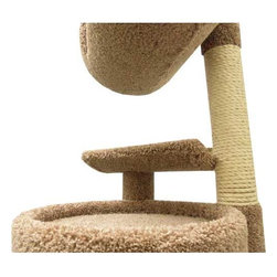 """New Cat Condos - Cat Playstation - Features: -Cat playstation.-2 Sisal scratching areas to keep your kitty's nails healthy.-Multiple levels for all your cats on tall cat condo.-Quality big cat condos.-Made in United States.-The color of the product may vary from the image.-The Cat Playstation is one of the most popular, stimulating cat trees by New Cat Condos. It has multiple features for your cat, including many perches, two sisal rope-covered posts and a large enclosed cat condo. The Cat Playstation starts off with a large 20 by 20 square base that is doubled up for strength and sturdiness. From the large base you'll find a 9 by 17 perch situated underneath the enclosed tube with a large 8 by 7 opening that can be used by cats up to 35 lbs. The tube also has a large open area in the enclosure and round perch on top. Above the enclosure is another 9 by 17 perch which gives easy access to the next set of perches, and a large 12 by 17 tube with a window opening for their viewing pleasure. The Cat Playstation finishes off with a half-tube perch on top that your cat will love to sit or relax on or watch its surroundings. The Cat Playstation is perfect for someone who needs a tall, sturdy, and durable piece of cat furniture for cats who loves to play, relax, and scratch. Its sturdy base is built of solid wood covered in plush household-grade carpet, sisal rope, sonic tubes and peeler cores. No assembly is required, just open the box and let your kitties enjoy..-Distressed: No.-Country of Manufacture: United States.Dimensions: -Dimensions: 71"""" H x 20"""" W x 20"""" D.-Overall Height - Top to Bottom: 71.-Overall Width - Side to Side: 71.-Overall Depth - Front to Back: 20.-Overall Product Weight: 75 lbs."""