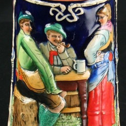 EuroLux Home - Consigned Vintage 1930s German Beer Stein Colorful - Product Details