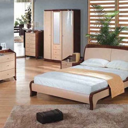 Stylish Wood High End Modern Furniture with Extra Storage - Emilia modern european style bedroom set (full/queen/king). Redecorate your bedroom and give it a contemporary twist with this high-fashion bedroom set.