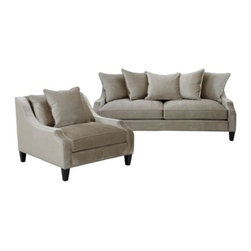 Z Gallerie - Chic Combo - Brighton Moonbeam Sofa & Chair - Above price includes 15% off