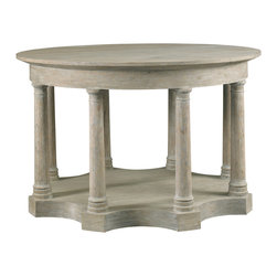 Lillian August - Lillian August Midland Column Hall Table LA97329-01 - Eight classic Ionic columns and a beautifully shaped base provide a striking presence to the midland table and it becomes strikingly modern in the flat rubbed paint finish.