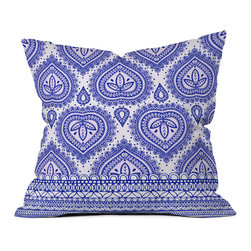 DENY Designs - Aimee St Hill Decorative Blue Throw Pillow - Want to transform a serious room into a fun, inviting space? Looking to complete a room full of solids with a unique print? Need to add a pop of color to your dull, lackluster space? Accomplish all of the above with one simple, yet powerful home accessory we like to call the DENY throw pillow collection! Custom printed in the USA for every order.