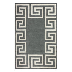 nuLOOM - 5'x8' Grey Hand Tufted Area Rug Greek Key - Made from the finest materials in the world and with the uttermost care, our rugs are a great addition to your home.