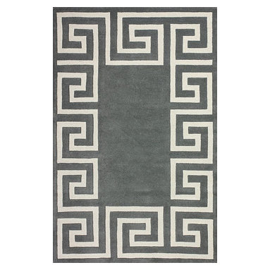 nuLOOM - Contemporary 5' x 8' Grey Hand Tufted Area Rug Greek Key - Made from the finest materials in the world and with the uttermost care, our rugs are a great addition to your home.