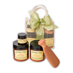 Gilden Tree - Complete Organic Foot Care Kit - A complete organic foot care kit to scrub, buff, moisturize and protect. All products are Gluten free. Safe for diabetics and celiacs.
