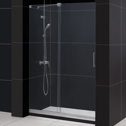 "DreamLine - DreamLine DL-6436C-01CL Mirage Shower Door & Base - DreamLine Mirage Frameless Sliding Shower Door and SlimLine 36"" by 48"" Single Threshold Shower Base"