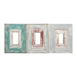 Walls Need Love - Adhesive Weathered Frames Decals, Set of 6 - These weathered frames are perfect when paired with other wall decals or use them to highlight your most recent craft project.