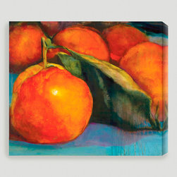 'Orange Glow' Giclée Canvas by Sylvia Angeli - I've got the perfect spot for this painting of juicy-looking fruit! My entryway is kind of dark, and a large painting with fun color is just the thing for it.