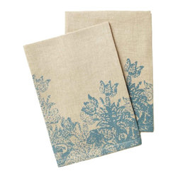 Azure Guest Towels - I love the light blue flowers on these linen towels. They would look so pretty in a guest bathroom.