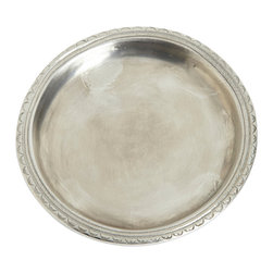 Match - Scallop Rimmed Bottle Coaster - Match Pewter's Scallop Rim Bottle Coaster offers a sophisticated scalloped rim that looks beautiful on any table. Handcrafted of Italian pewter by artisans, this pewter bottle coaster adds a vintage chic touch to your dinner table.